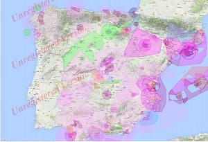 Mapa Espacios TODA ESPAÑA Grande con espacios pru 1 con texto